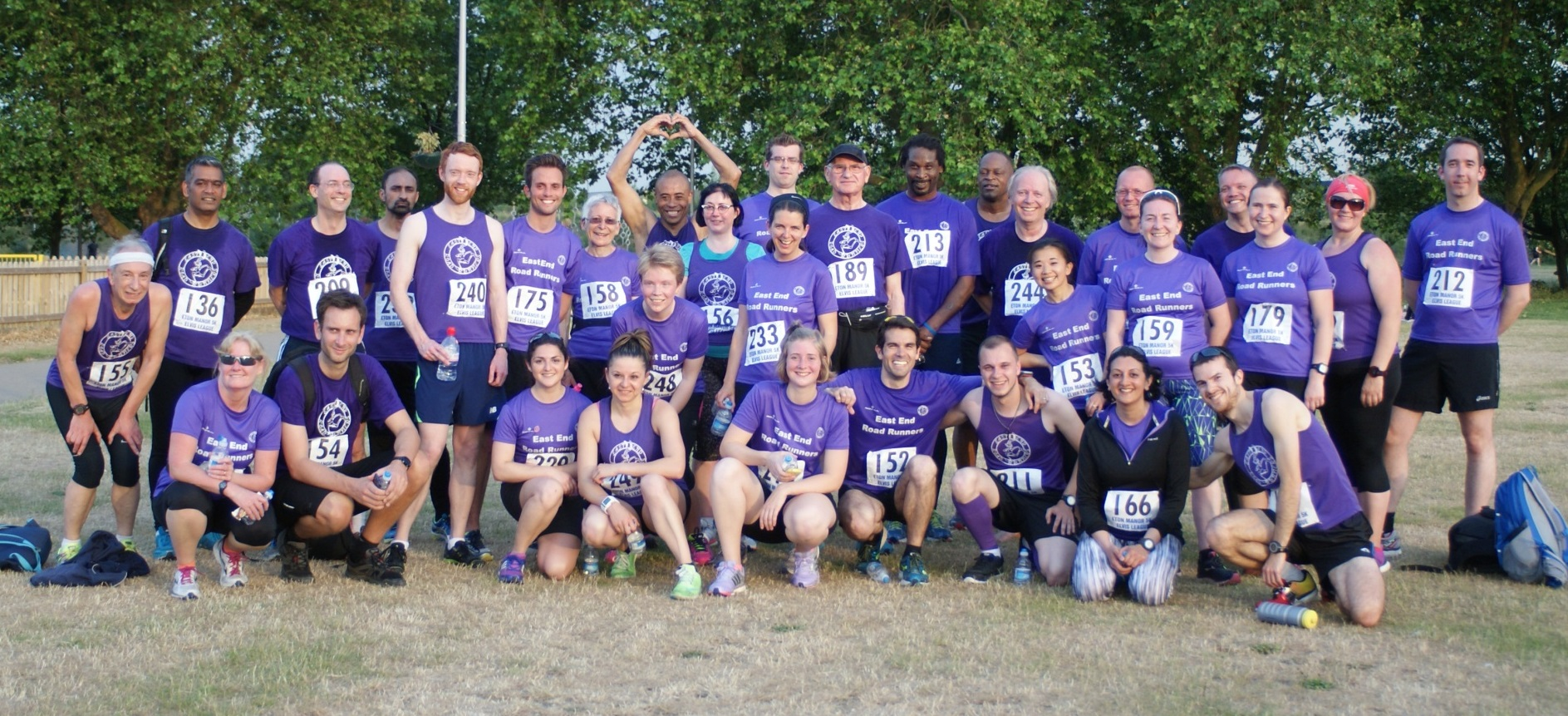 A group photo of EastEndRoad Runners