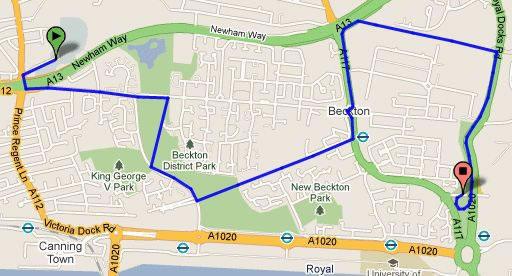 Windsor Park Bridge route