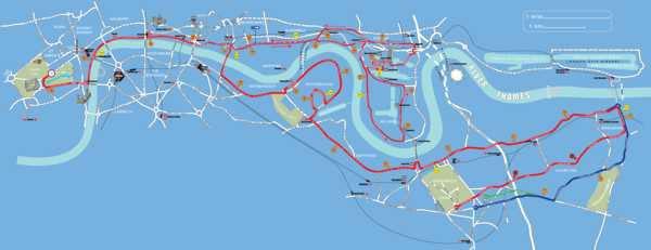 London Marathon route
